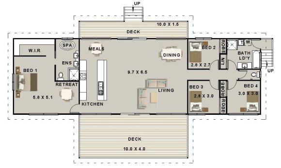 3 Bed + Study Nook | Narrow | Townhouse Plans