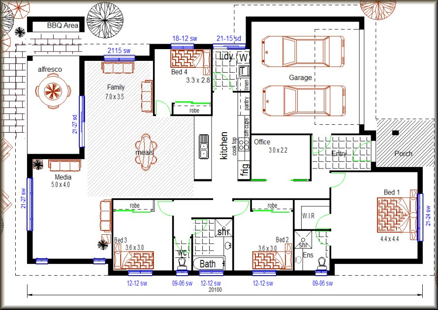 House plan no 220 my pad 1 storey house plans 4 bedroom modern house plan custom house 4 bedroom modern house plans
